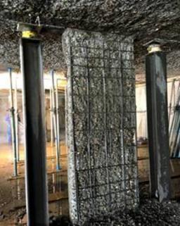 Ervas afgepeld beton